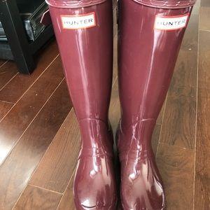 Hunter boots women's size 7 - never been worn.